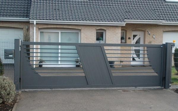 portails alu modernes portail moderne zenox line vega. Black Bedroom Furniture Sets. Home Design Ideas